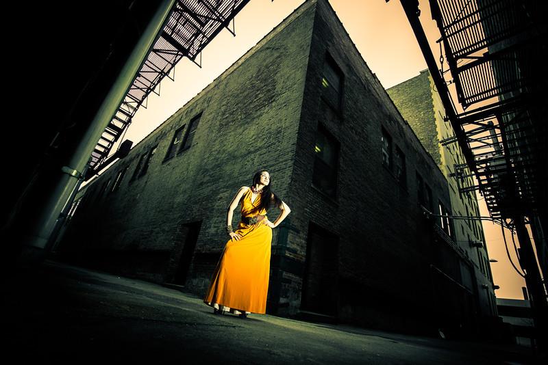 senior fashion photographer<br /> senior girl fashion portrait in urban location downtown