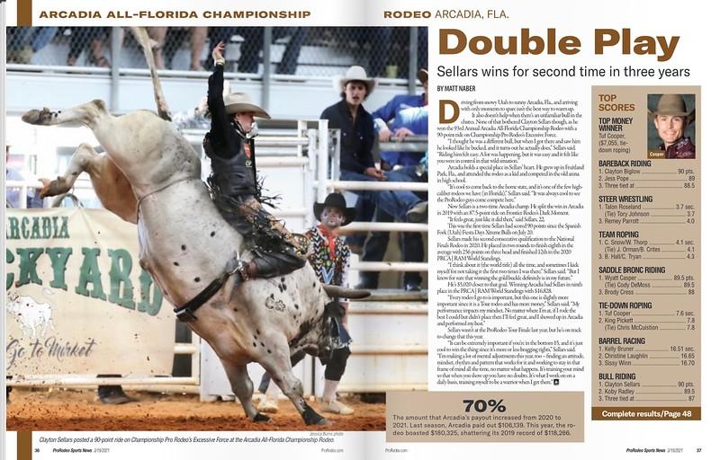ProRodeo Sports News Publication March 19 & April 2, 2021