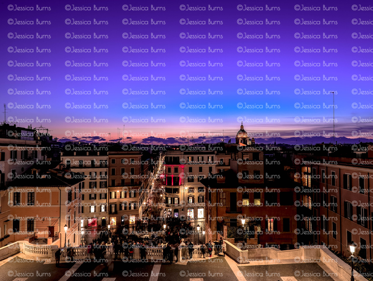 View from the Spanish Steps