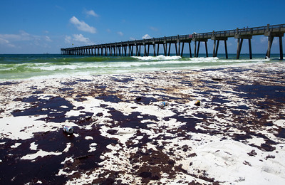 The Pensacola Beach Pier. Taken 6-23-2010. The day the oil hit hard. Black Wednesday.