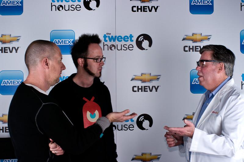"Oren Jacob, former CTO at Pixar,<br /> William ""Whurely"" Hurley, cofounder of Chaotic Moon Studios.<br /> Tom Dickson of Blendtec."