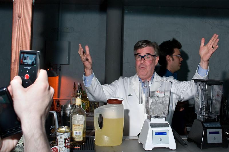 Tom Dickson of Blendtec demonstrates his blending skill by blending margaritas.
