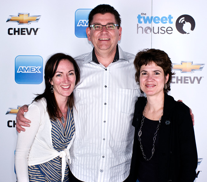 Tweet House comes to SXSW 2011.<br /> Chris Perry, US vice president of Chevrolet Marketing (center).