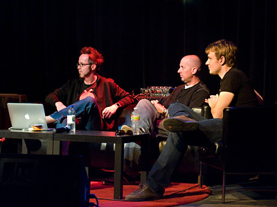 Hurley (Chaotic Moon Studios), Oren Jacob (Pixar), & Evan Doll (Flipboard).