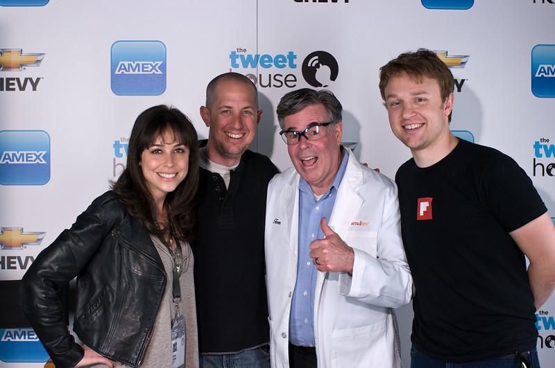 Shira Lazar (Disrupt Group), Oren Jacob (Pixar), Tom Dickson (Blendtec), Evan Doll (Flipboard)