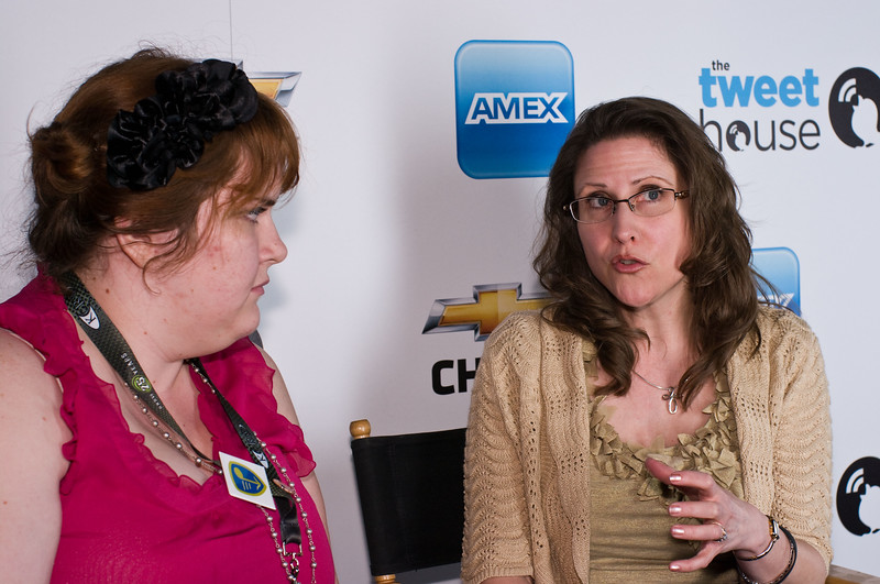 Tweet House comes to SXSW 2011.<br /> Mary Henge, Director of Social Media & Digital Communications at GM, (right)