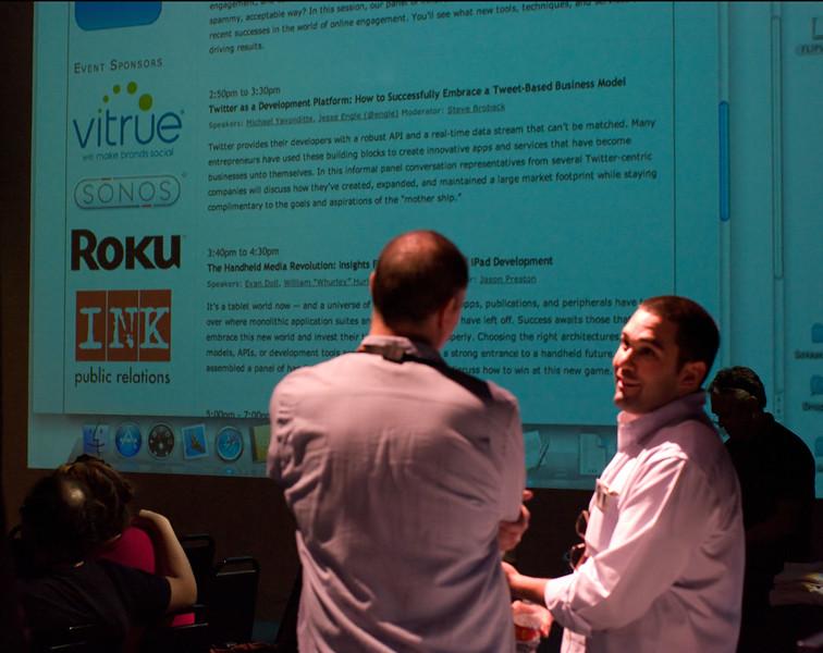 The big screen tells it all at Tweet House SXSW 2011.