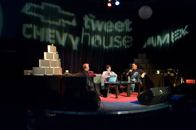 Tweet House comes to SXSW 2011. Steve Broback, founder of Tweet House/Parnassus Group. Michael Yavonditte, founder of Hashable, Jesse Engle, cofounder and CEO of CoTweet.