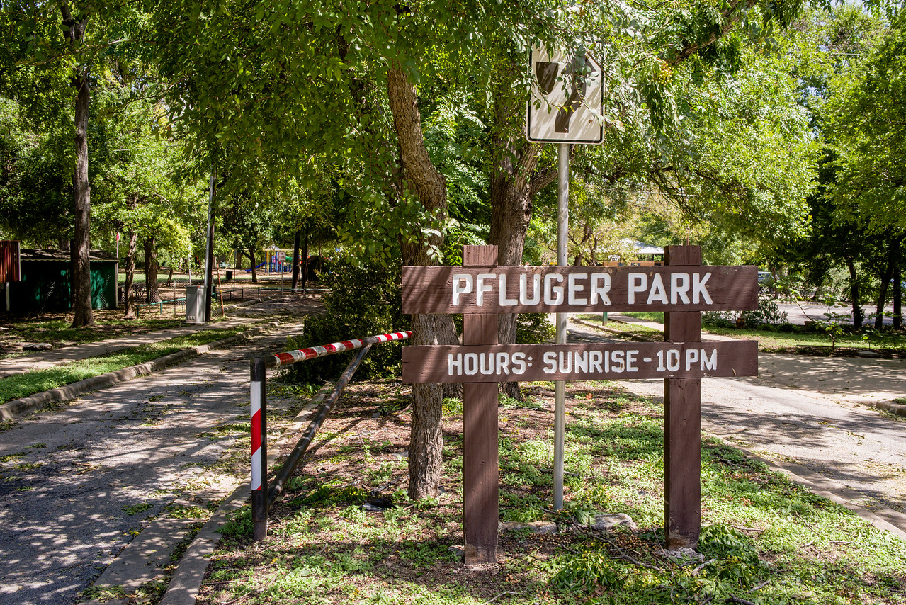 Pfluger Park, right down the street