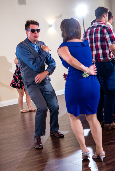 The groom and his mom get down.
