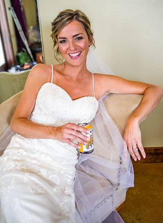 Being a bride is a thirsty job.