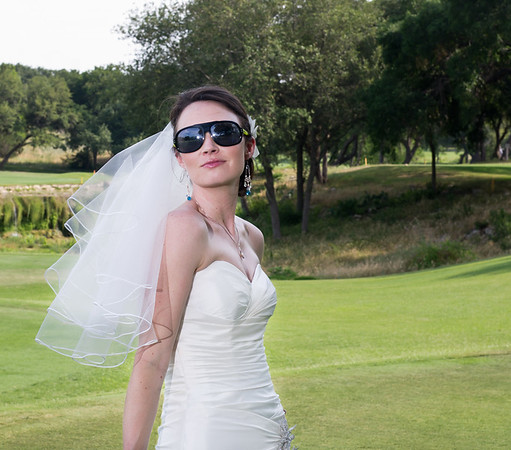 Bride with sun glasses