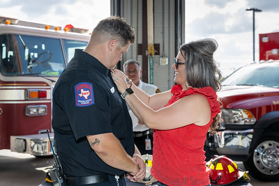 Badge pinning ceremony hosted at the Kirby Fire Department on May 23rd, 2020.  Images taken by Muñillar Photography, to see more of our work, visit www.munphoto.com