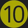 10 icon green