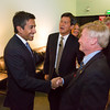 Dr. Sanjay Gupta, CNN contributing editor, greets ATA Board members