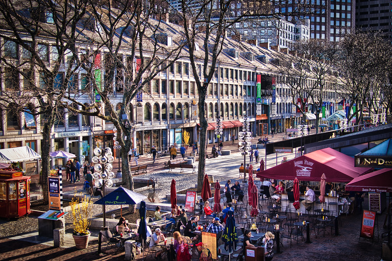 Quincy Market area - Boston, MA