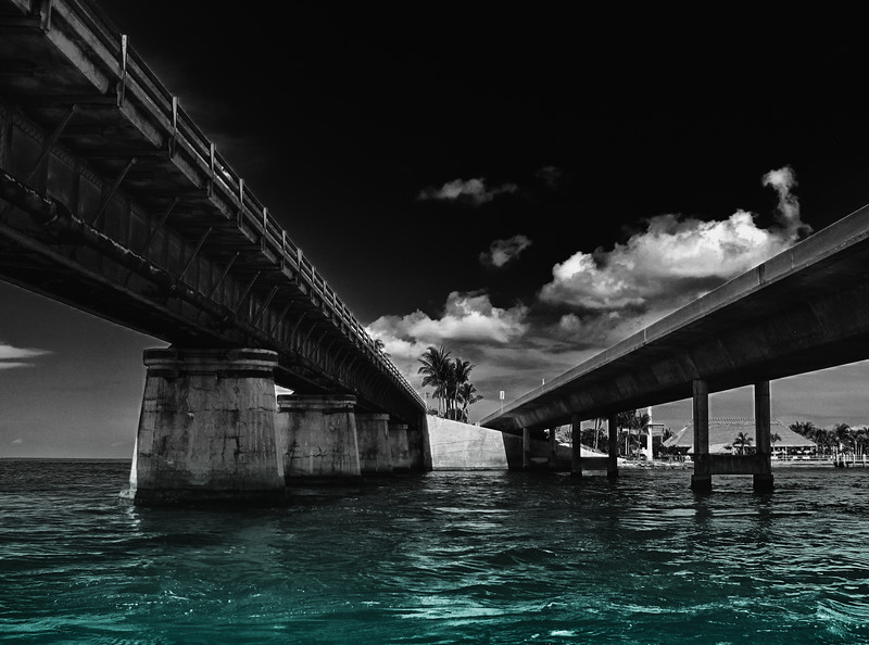Under the 7 Mile Bridge - Marathon, FL Keys