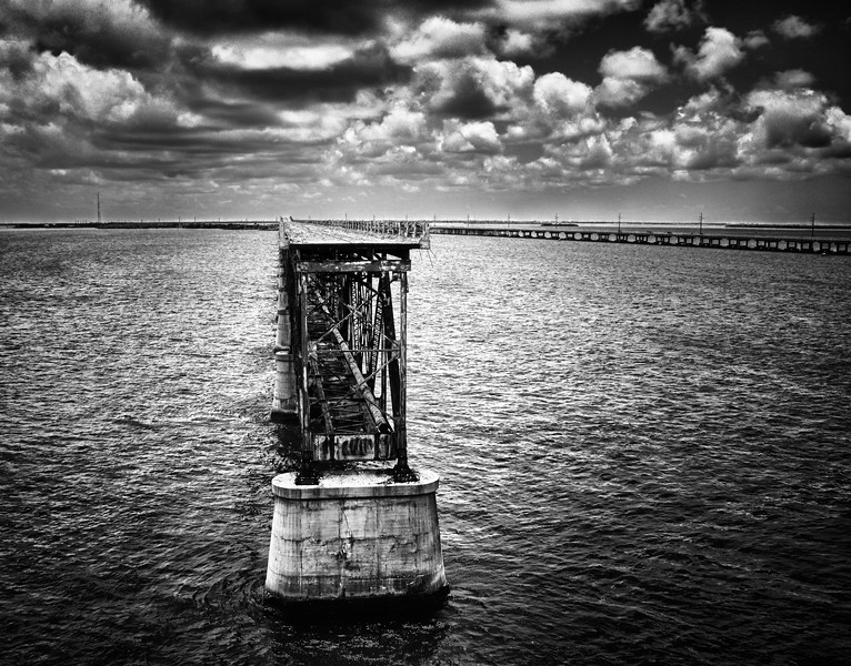 HDR of the 7 Mile Bridge - Bahia Honda State Park.  Big Pine Key, FL Keys.