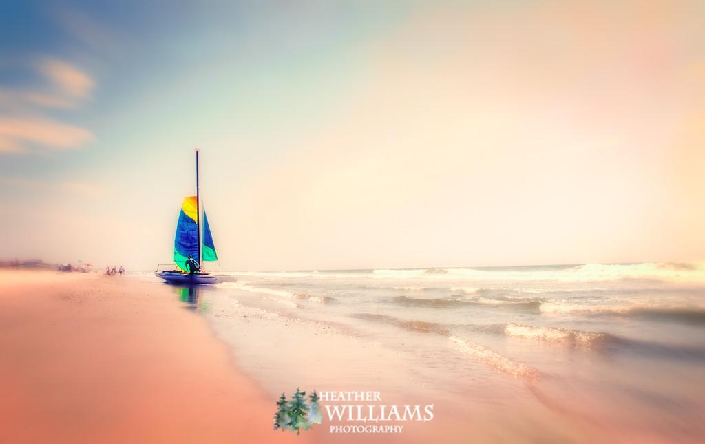 Sailing at Topsail Beach, NC
