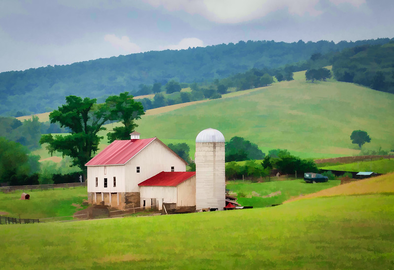 House and Silo in the Mountains of VA