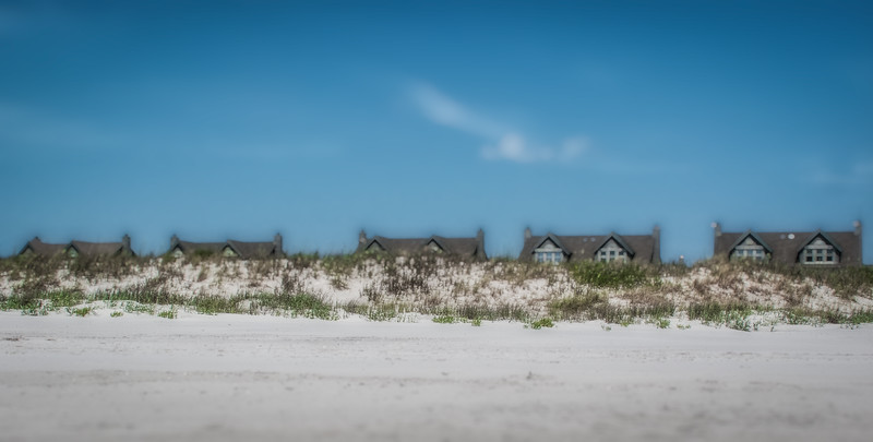 Tilt-Shift of Beach-Front Homes on Topsail Beach, NC