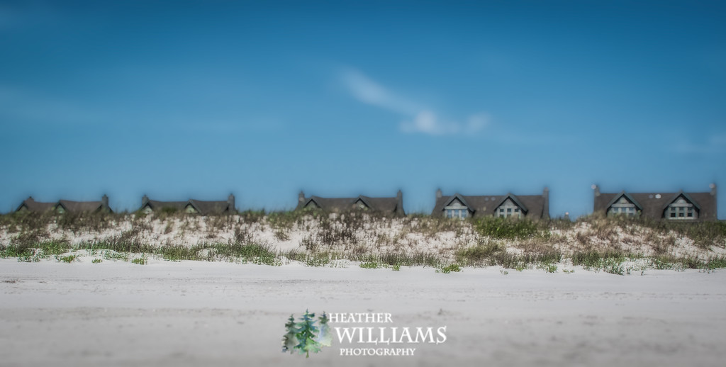 Tilt-Shift of Beach-Front Homes on Topsail Beach, NC
