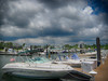 Dramatic Clouds at a Marina - NC