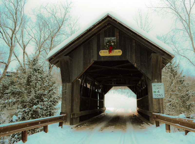 Allegedly haunted Emily's Bridge near Stowe, VT