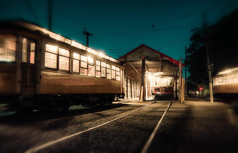 Trolley Glow - Shoreline East Museum--23