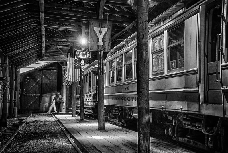 Trolley Glow - Shoreline East Museum--13