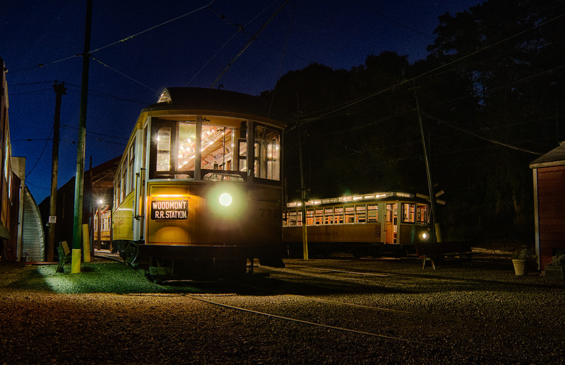 Trolley Glow - Shoreline East Museum--22