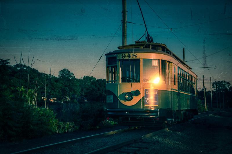 Trolley Glow - Shoreline East Museum--2