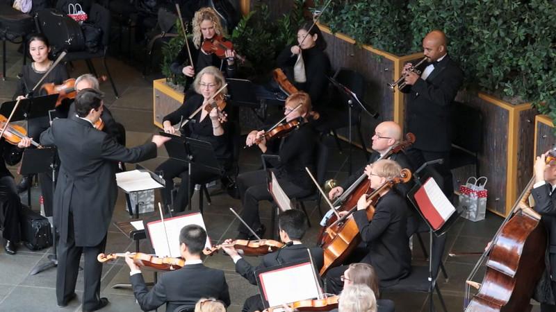 Joybells perform at the Kimmel Center in Philadelphia, December 7, 2014
