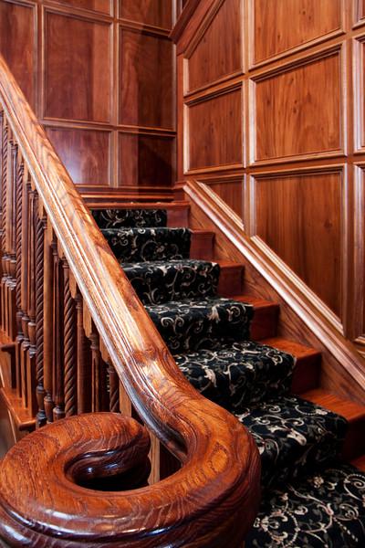 stairway wood detail