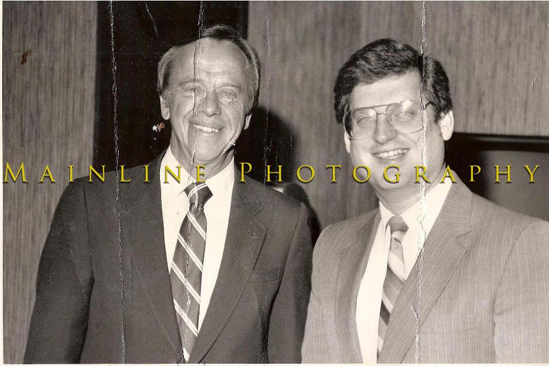 The first American astronaut, and Apollo 12 astronaut, Alan Shepard, with Marc Levenson.  Marc messed this photo up while moving.