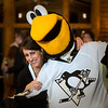 Recipe for Hope 214 ..   Shelley Duffy with Penquins mascot Iceburgh