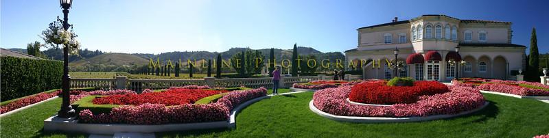 Garden at Ferrari-Carano Winery, Napa Valley