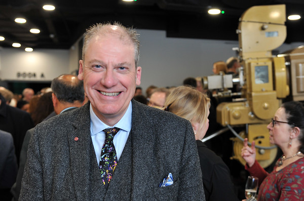 Bradford UNESCO City of Film 10th anniversary reception at the National Science and Media Museum. 12.02.19<br /> Adrian Wootton OBE, Chief Executive of the British Film Commission and Film London