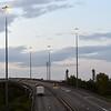 Urbis lighting on High Masts A19, Middlesbrough.<br /> 17.08.17
