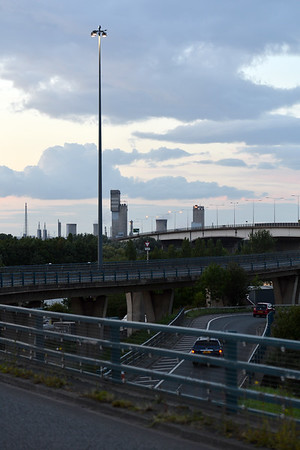 Urbis lighting on High Masts A19, Middlesbrough.<br /> 17.08.17