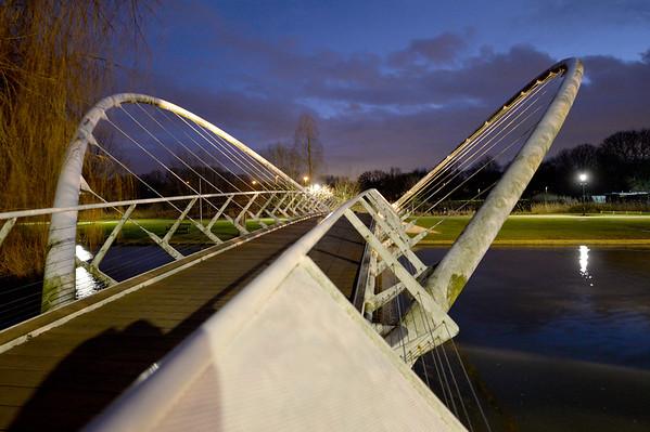 Butterfly Bridge : Bedford - January 2018