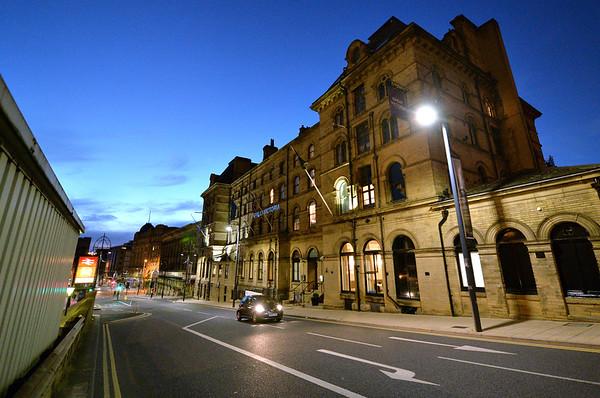 Urbis lighting, Bradford.<br /> Bridge Street<br /> 27.07.16