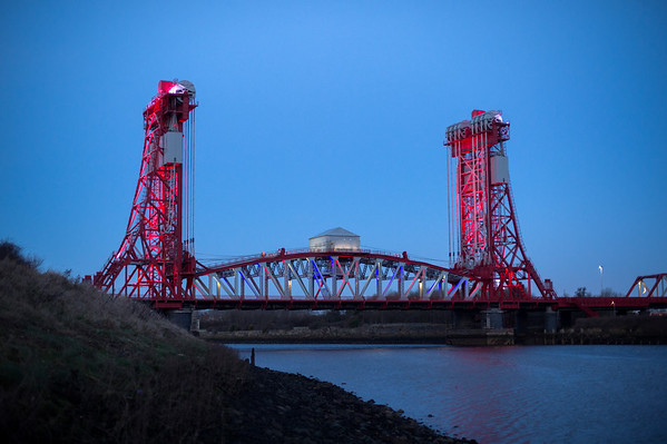 The Tees Newport Bridge.<br /> 24.01.17<br /> Picture by Roger V Moody