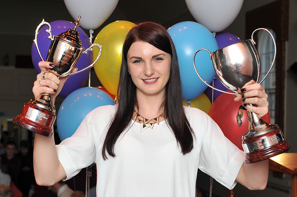 KITS Presentation evening at Brighouse Civic Hall.<br /> Winner of KITS Apprentice of the Year Award - Nicole Firth.<br /> 12.05.16