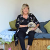 Jayne Small from Rotherham, pictured in her garden room with her dog, Poppy. 03.06.19