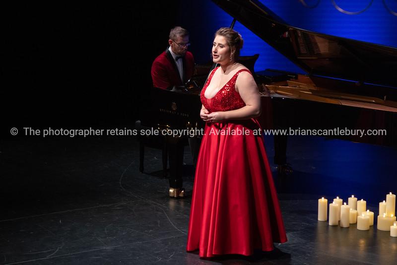 Katie Trigg on stage