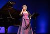 Glenese Blake singing on stage at Baycourt.