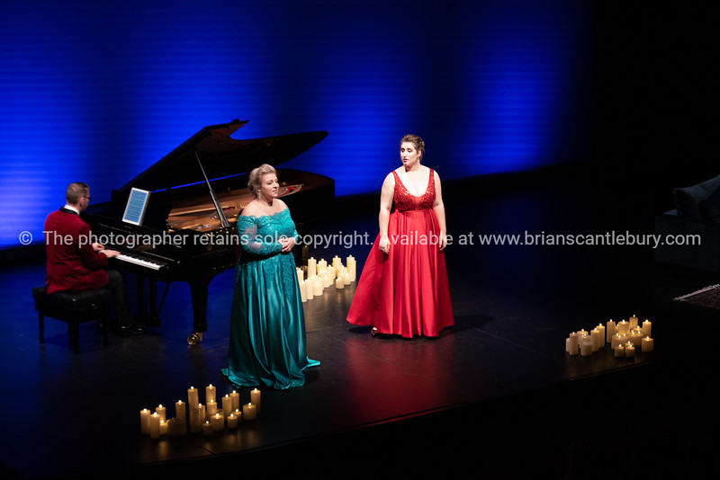 Felicity Tomkins and Katie Trigg on stage