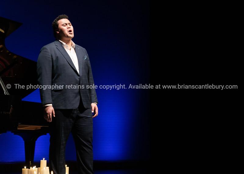 Emmanuel Fuimoana on stage Baycourt.