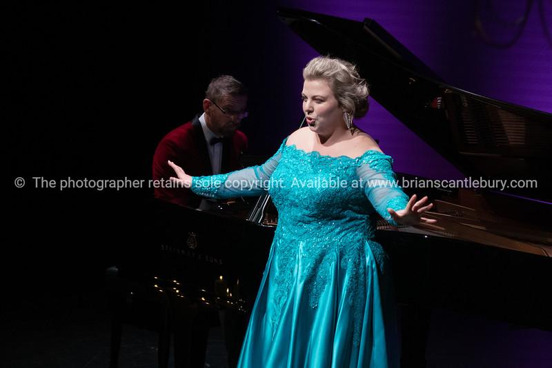 Felicity Tomkins on stage